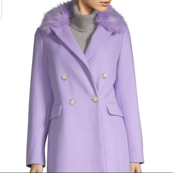 Violet Wool Peacoat size 2